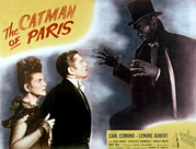 Lobbycard Prints - The Catman Of Paris, Lenore Aubert Print by Everett