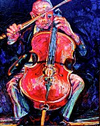 Jaguars Paintings - The Cellist by Gordon Swayze