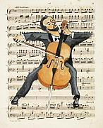 Caricature Framed Prints - The Cellist Framed Print by Paul Helm
