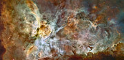 Hubble Posters - The Central Region Of The Carina Nebula Poster by Stocktrek Images