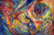 Birkat Cohanim Prints - The Chagall Dreams Print by Elena Kotliarker