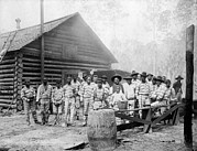 Chain Gang Prints - The Chain Gang, Southern Us, Ca. 1898 Print by Everett