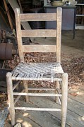 Old Barns Photo Originals - The Chair by Kathy Budd