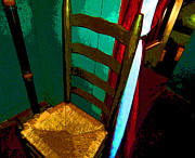 Ladderback Chair Metal Prints - The Chair Metal Print by Mindy Newman