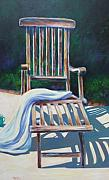 Earth Tone Painting Posters - The Chair Poster by Shannon Grissom