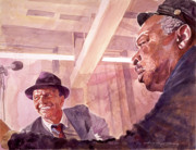 Frank Sinatra Paintings - The Chairman Meets the Count by David Lloyd Glover