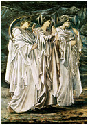 Trumpets Paintings - The Challenge in the Desert by Edward Burne-Jones