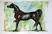 Wild Horse Mixed Media Prints - The Champion Print by Angel  Tarantella