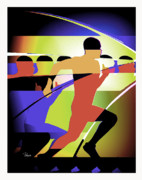 Olympic Sport Mixed Media Prints - The Champion Print by Zbigniew Rusin