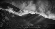 Crepuscular Rays Posters - The Chancel in Black and White Poster by Andy Astbury