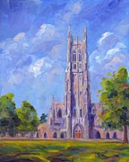 Blue Art Prints - The Chapel at Duke University Print by Jeff Pittman