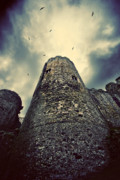 Storm Clouds Prints - The chapel tower Print by Meirion Matthias