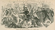New York Tribune Prints - The Charge Of The  New York City Police Print by Everett