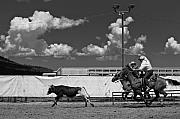 Cowboy Photos - The chase for time by Scott Sawyer