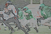 National Football League Prints - The Chase Is On Digital Art Print by Thomas Woolworth