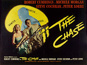 Lobbycard Framed Prints - The Chase, Michele Morgan, Peter Lorre Framed Print by Everett