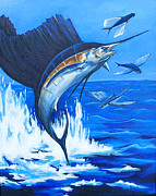 Scuba Paintings - The Chase by Sandra Camper