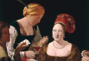 Two Women Prints - The Cheat with the Ace of Diamonds Print by Georges de la Tour