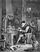 Basement Art Metal Prints - The Chemist, 17th Century Metal Print by Science Source