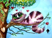 Cheshire Paintings - The Cheshire Cat by Lucia Stewart