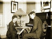 Victorian Photo Originals - The Chess Players by Jan Faul