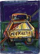 Chevrolet Pickup Truck Mixed Media Posters - The Chevy Poster by Russell Pierce