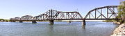Missouri Prints - The Chicago and North Western Railroad Bridge Print by Mike McGlothlen
