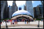 Chicago Landmark Posters - The Chicago Bean Poster by Courtney Lively