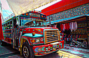 Chichi Acrylic Prints - The Chicken Bus Acrylic Print by Tom Bell