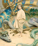 Stood Paintings - The Child in the World by Thomas Cooper Gotch