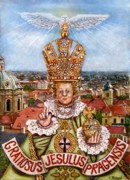 Child Jesus Paintings - The Child Jesus of Prague by Rudolf  Zamazal
