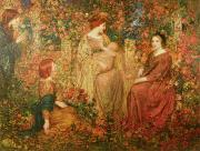 Rose Garden Paintings - The Child by Thomas Edwin Mostyn