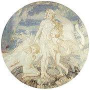 Swan Fantasy Art Prints - The Children of Lir Print by John Duncan