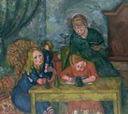 Table Paintings - The Childrens Parlour by Fritz Friedrichs