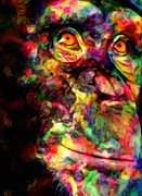 Gaze Digital Art Prints - The Chimp Print by Jack Zulli