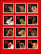Zodiac Painting Prints - The Chinese Zodiac... Print by Will Bullas