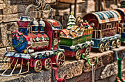 Holiday Decoration Posters - The Christmas Express Poster by Eddie Yerkish