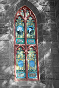 Art Glass Pyrography - The Church Bldg by Ted Wheaton