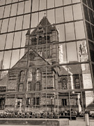 Boston Ma Photo Framed Prints - The Church Framed Print by JC Findley