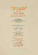 Gospel Framed Prints - The Church of Christ in Every Age I Framed Print by Judy Dodds