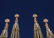 Cranes Framed Prints - The Church Of La Sagrada Familia Framed Print by Taylor S. Kennedy