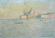 Palladian Posters - The Church of San Giorgio Maggiore Venice Poster by Claude Monet