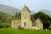 Churchyard Posters - The Church of the Holy Cross - Ilam Poster by Rod Johnson