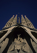 Art Sculpture Prints - The Church Of The Holy Family, Sagrada Print by Taylor S. Kennedy