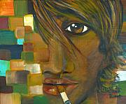 Chapeaux Paintings - The Cigarette by Patty Meotti