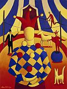 Circus. Paintings - The circus blind juggler by Alan Kenny