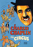 Little Tramp Character Framed Prints - The Circus, Charlie Chaplin, 1928 Framed Print by Everett