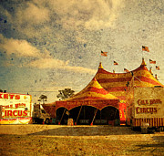 Circus Tent Framed Prints - The Circus is in Town Framed Print by Susanne Van Hulst