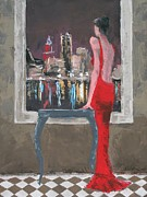 Evening Dress Painting Originals - The City Awaits by Thalia Kahl