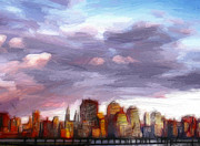New York Skyline Paintings - The City never sleeps by Stefan Kuhn